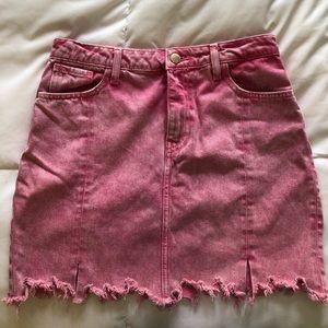 Zara Pink Denim Skirt